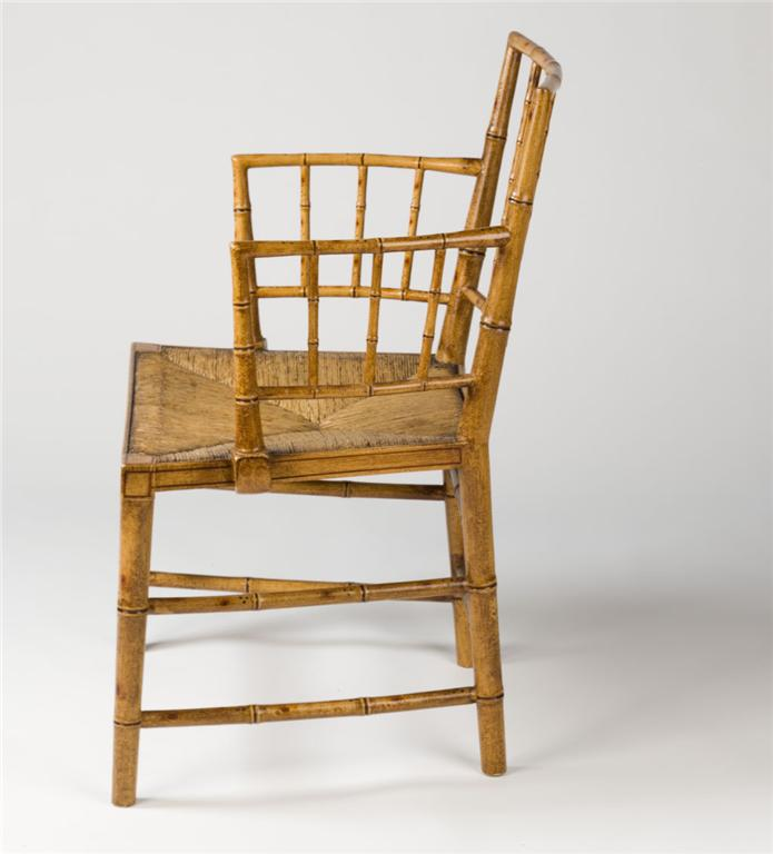 faux bamboo painted antique chairs and furniture